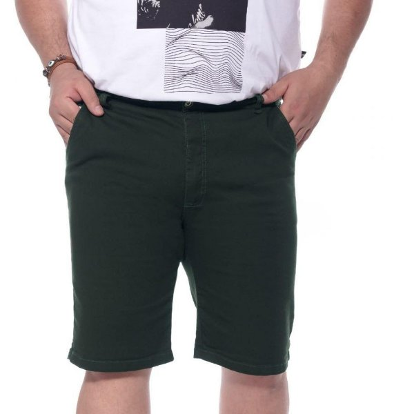Bermuda Sarja com Elastano Verde Plus Size 66 ao 78 2019