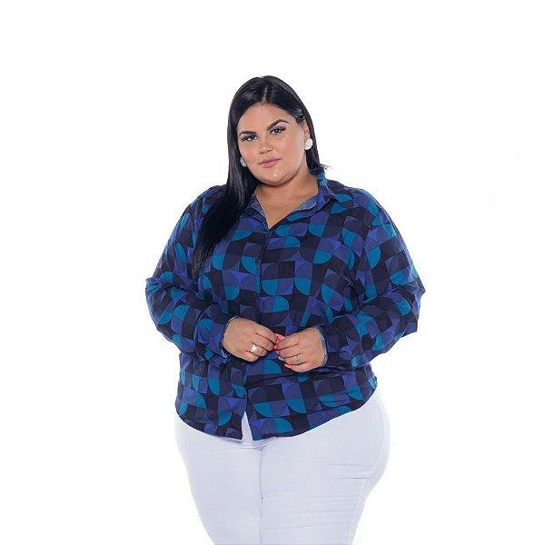 Camisa Feminina Viscose Estampada Bola Plus Size XP ao G5