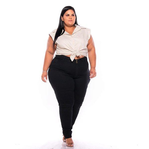 Calça Jeans Feminina Pequenos Defeitos Plus Size