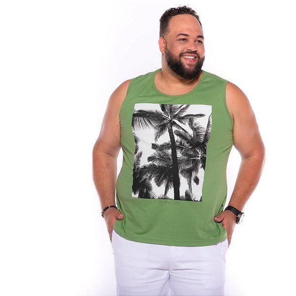 Camiseta Regata Coqueiro Verde Plus Size XP ao  G4