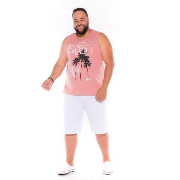 Camiseta Regata Beaches Rosé Plus Size XP ao  G4