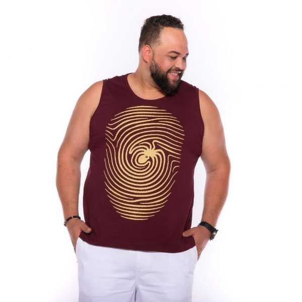 Camiseta Regata Digital Vinho Plus Size XP ao  G4