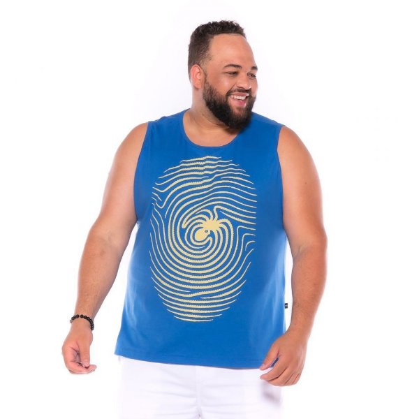 Camiseta Regata Digital Azul Plus Size XP ao  G4