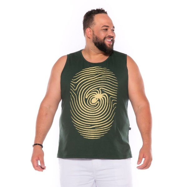Camiseta Regata Digital Verde Plus Size XP ao  G4