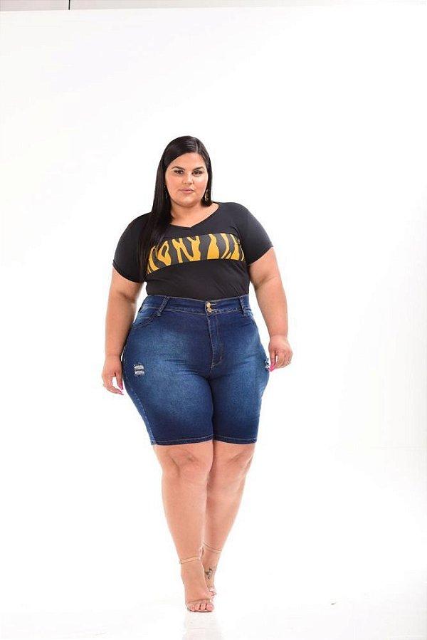 Bermuda Ciclista Jeans Feminina Plus Size 3155