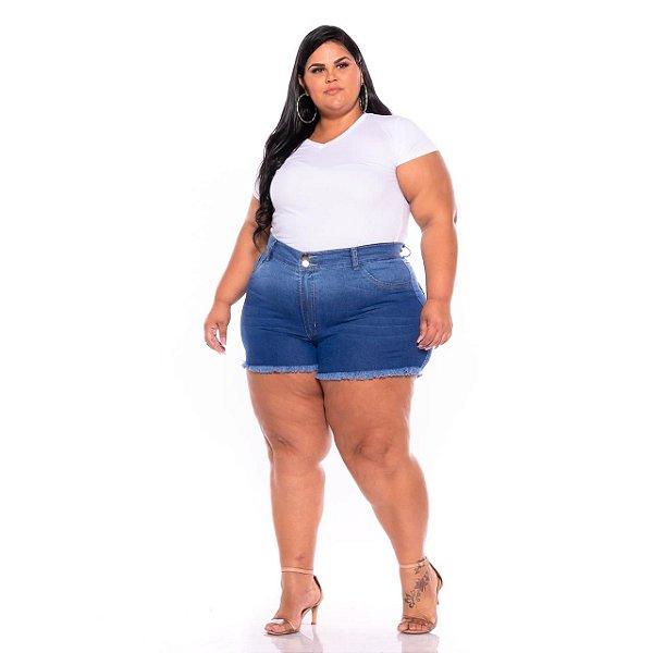 Short Degrade Desfiado Com Bigode Plus Size 62 Ao 70