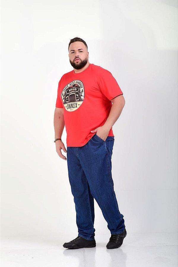 Calça Jeans Masculina com Elástico e Cordão G1 ao G4  1425