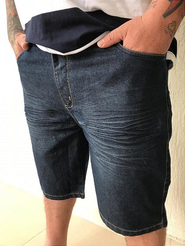 Bermuda Jeans Stretch c Bigode Masculina Plus Size 2025