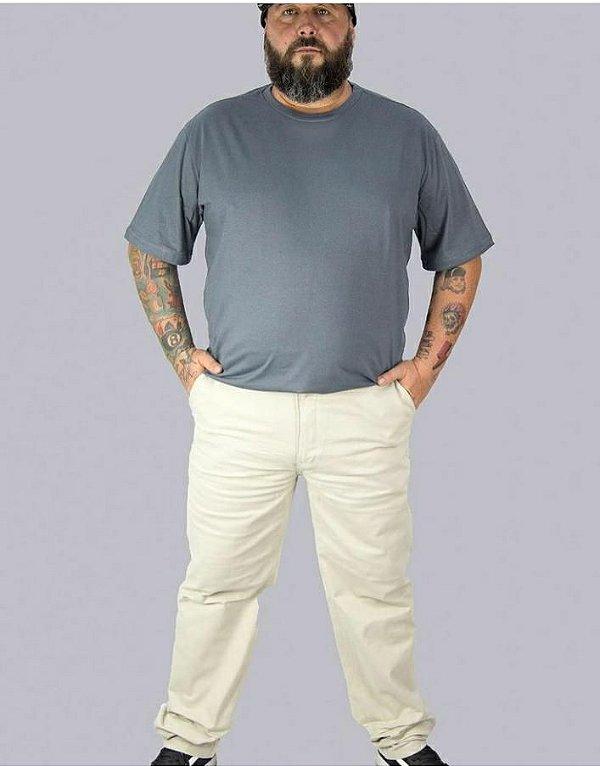 Calça Sarja Stretch Masculina Plus Size Marfim 2018