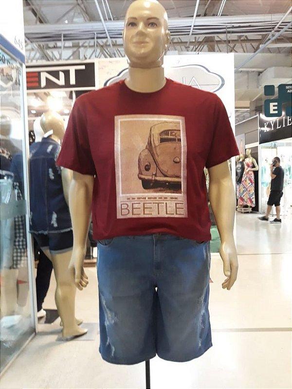 Bermuda Jeans Stretch Masculina Plus Size 2303