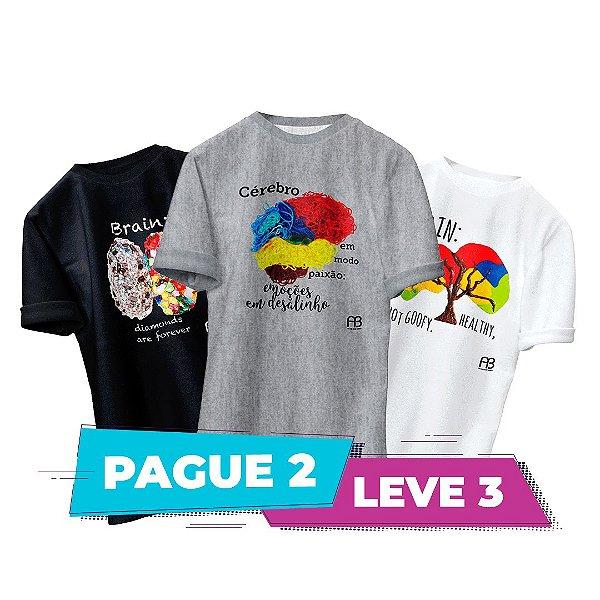 Kit 4 - Camisas -  Cérebro