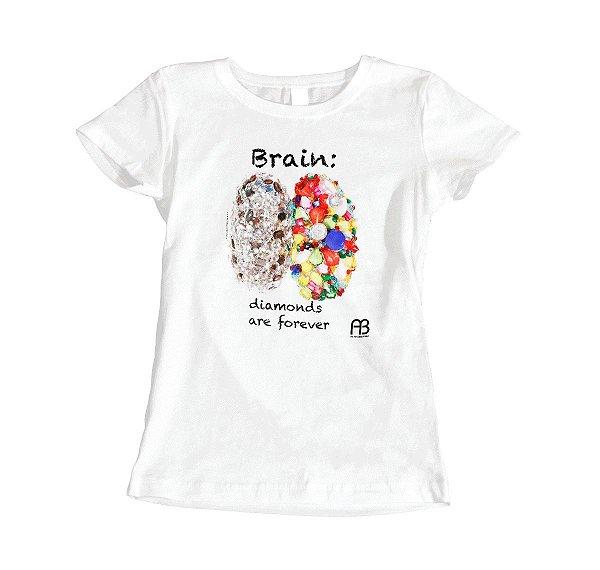 Camisa - Brain: Diamonds Are Forever
