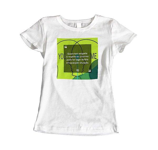 Camisa Baby Look - Empatia e Respeito ao Próximo