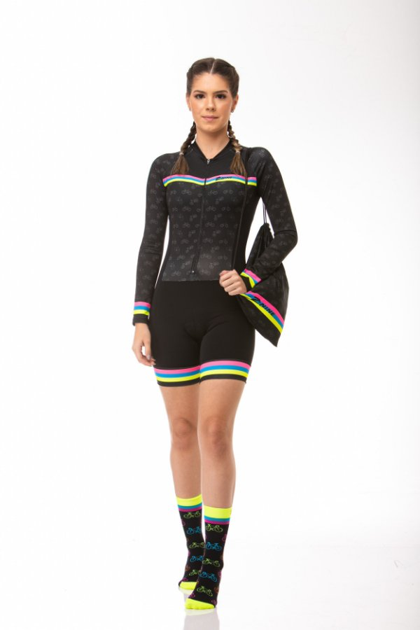 Macaquinho Ciclismo Colorful Longo Z-Nine