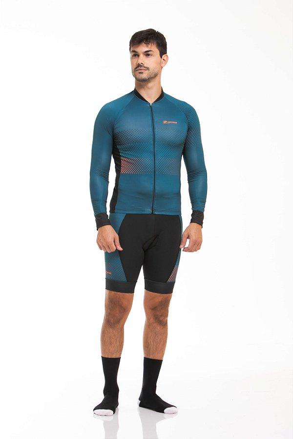 Camisa Ciclismo Sport Longa Classic Blue Z-Nine
