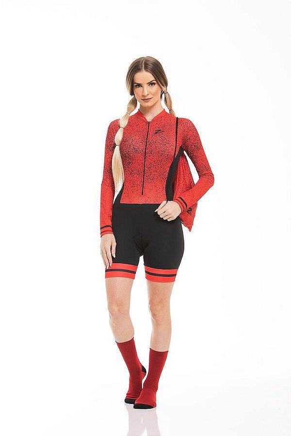 Macaquinho Ciclismo Red Brake Longo Z-Nine