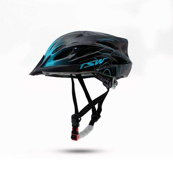 Capacete Tsw Raptor III LED Preto/Azul