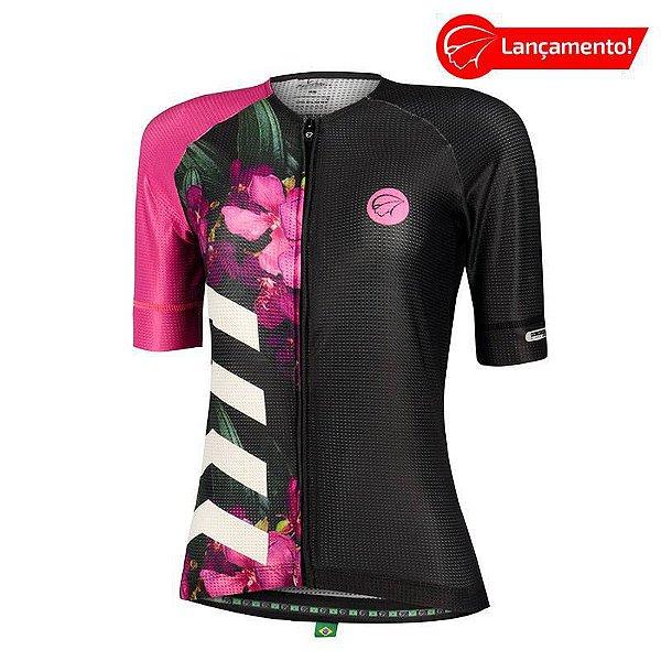 Camisa Ciclismo Feminina Bloom Roxa Mauro Ribeiro (Lançamento 2021)