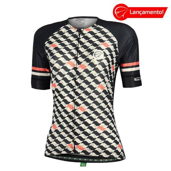 Camisa Ciclismo Feminina Flow Preta Mauro Ribeiro (Lançamento 2021)