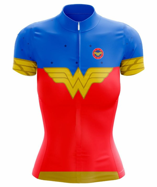 Camisa Ciclismo Mulher Maravilha Scape