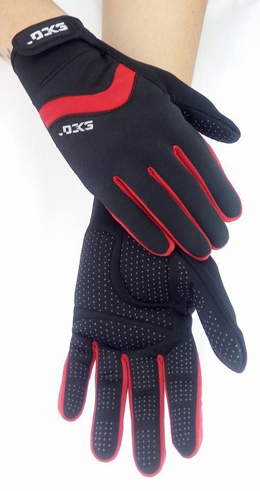 Luva Ciclismo Lancer Vermelha Pro Hand