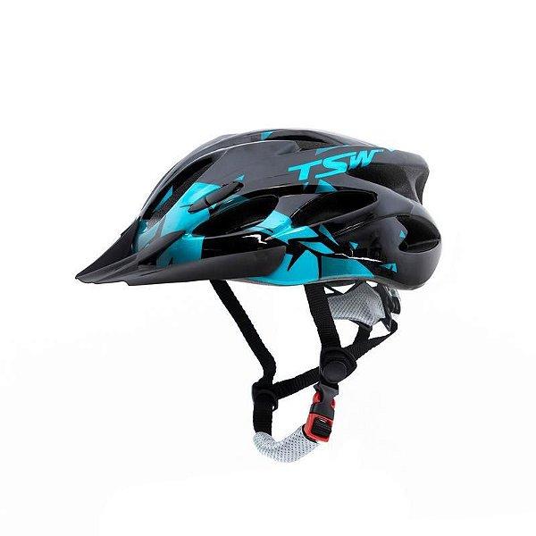 Capacete Raptor II Tsw LED Preto/Azul
