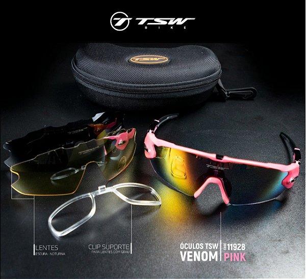 2a699863f9 Óculos Ciclismo Venom TSW Rosa - Roupas para Ciclismo - CicleVest