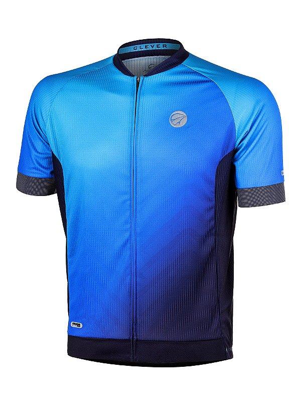 Camisa Ciclismo Clever Azul Mauro Ribeiro