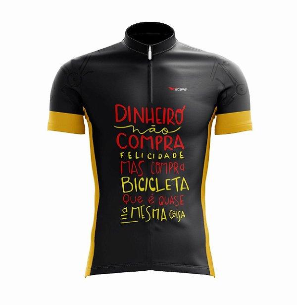 Camisa Ciclismo Dinheiro Não Compra Felicidade Scape