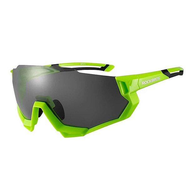 Óculos Ciclismo Rockbros Verde (5 Lentes)