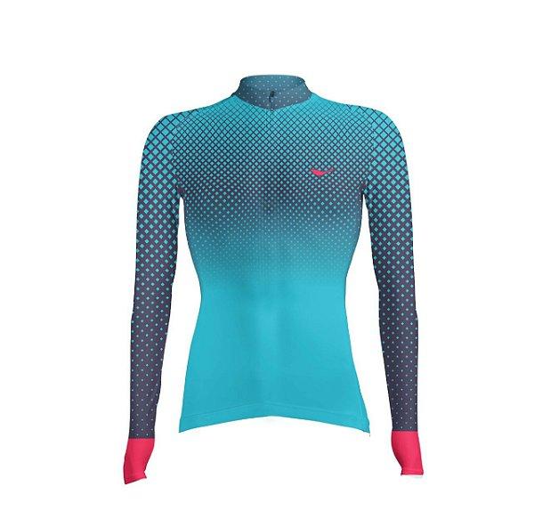 Camisa Ciclismo Celestial Scape Feminina ZIPER 15cm