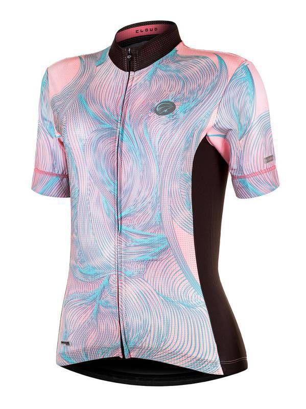 Camisa Ciclismo Cloud Pink/Verde Mauro Ribeiro