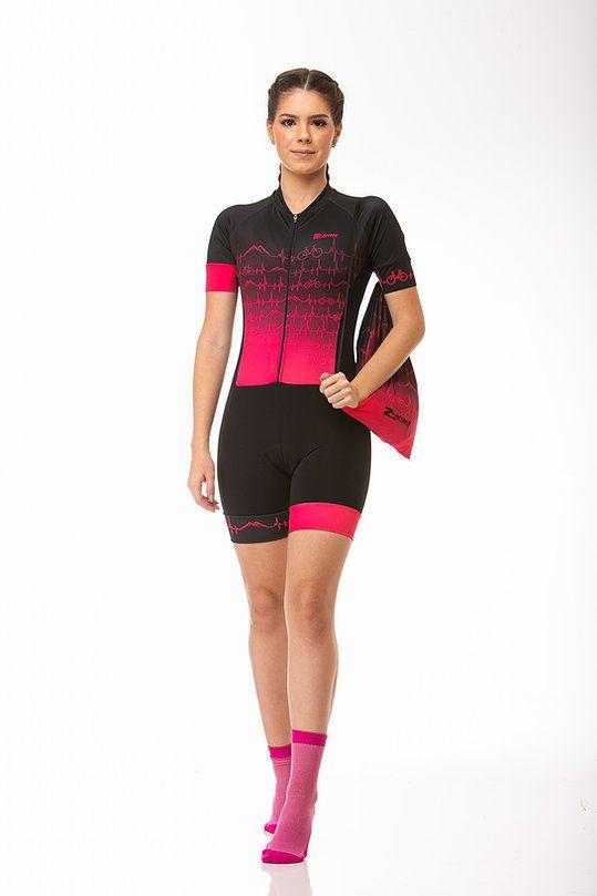 Macaquinho Ciclismo Heart Rosa Z-Nine