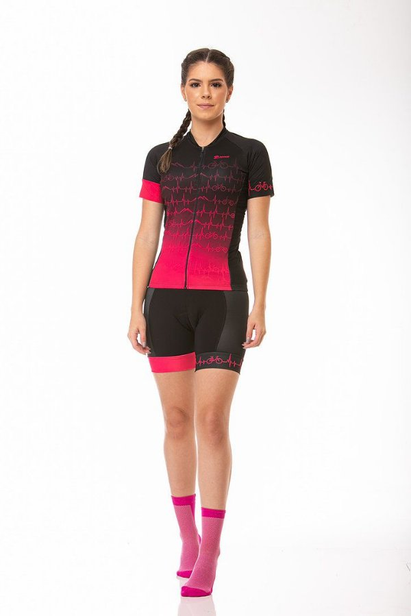 Camisa Ciclismo Sport Heart Rosa Z-Nine