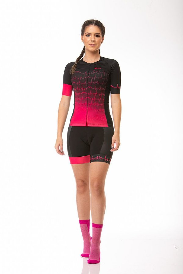 Camisa Ciclismo Elite Heart Rosa Z-Nine