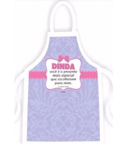 Avental De Cozinha Personalizado Para Madrinha (dinda)