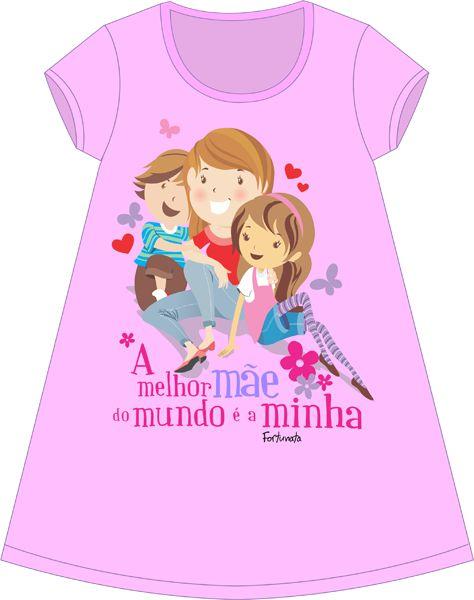 Camisola Personalizada A Melhor Mãe do Mundo é a Minha