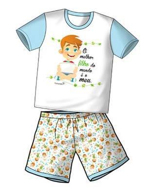 Pijama Infantil O Melhor Filho do Mundo é o Meu
