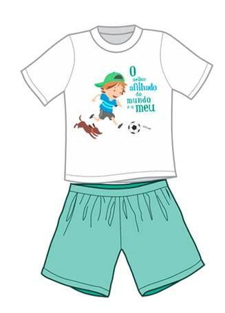Pijama Infantil O Melhor Afilhado do Mundo é o Meu