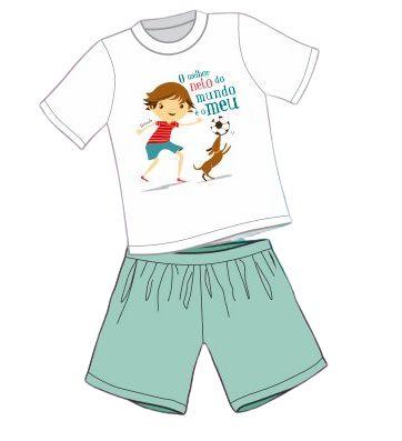 Pijama Infantil O Melhor Neto do Mundo é o Meu