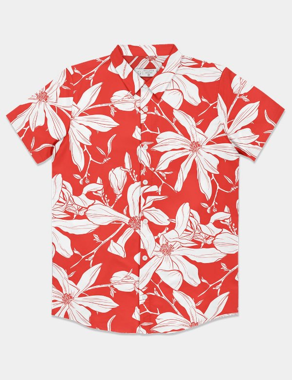 Camisa Red Flowers