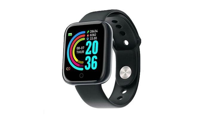 Relógio Inteligente D-20 Fitness,Para iOS e Android.