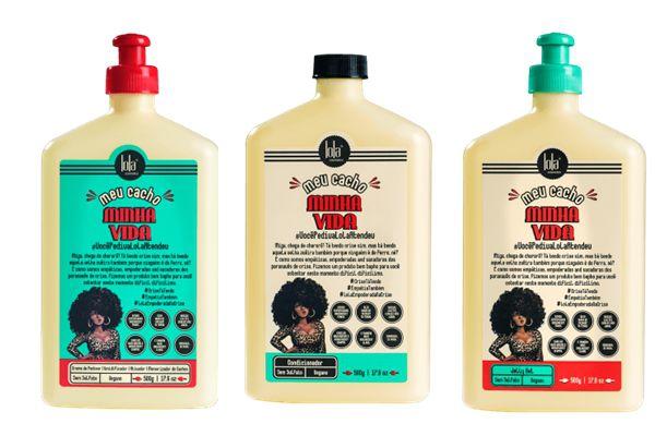 Combo com 3 Produtos Vegano Meu Cacho Minha Vida Lola Cosmetics - Condicionador/Creme de Pentear/Jelly Gel