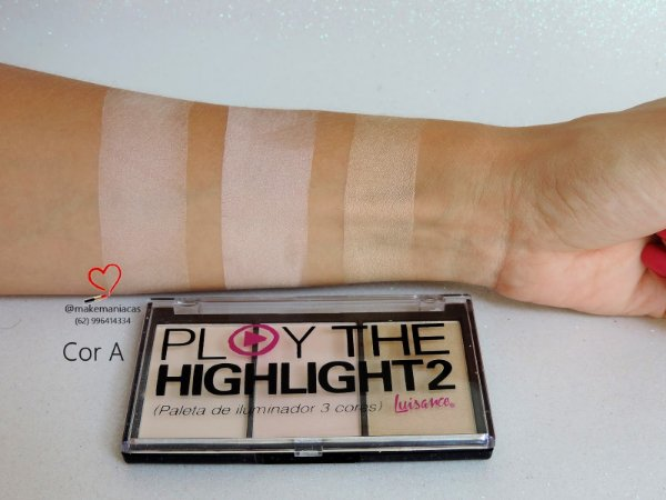 Paleta de Iluminador 3 Cores Play The Highlight 2 Luisance 18g