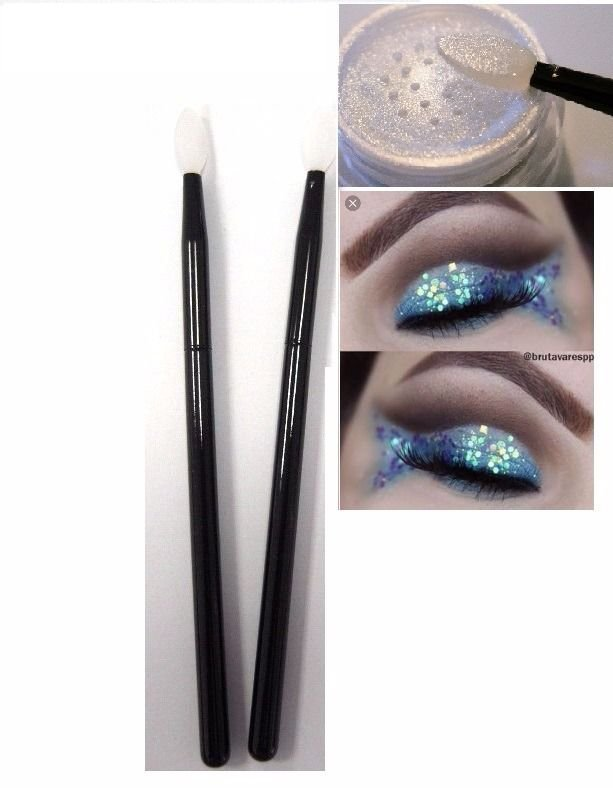 Pincel de Silicone para Aplicação de Glitter Le Vangee