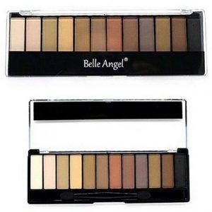 Paleta de Sombras Opacas Belle Angel 12 Cores B012-5 - 16,8g
