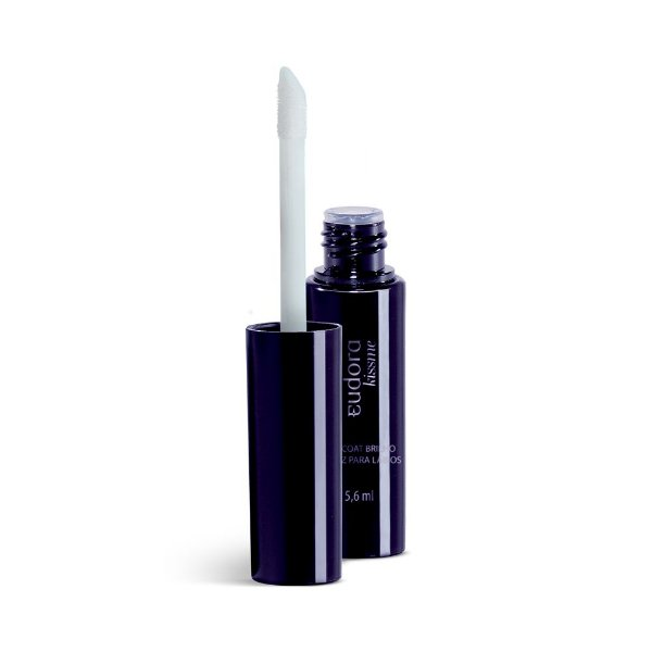 Top Coat Brilho Verniz Para Lábios Eudora Gloss Transparente - 5,6ml