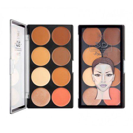 Paleta de Contorno Facial Cremoso Ruby Kisses 3D Contour Artistic Cream RPCC01BR