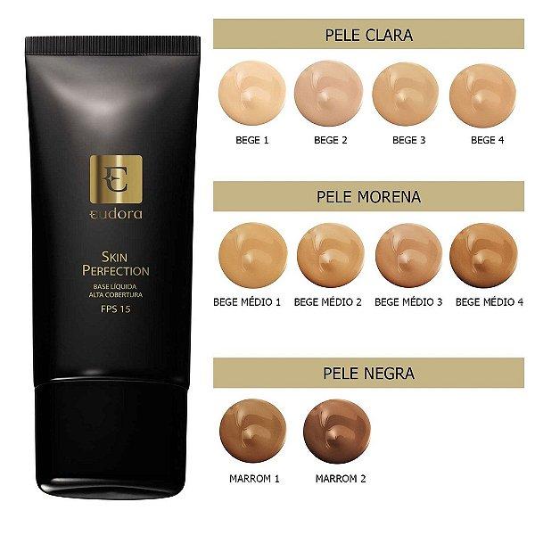 Base Eudora Liquida Alta Cobertura Skin Perfection - 30ml