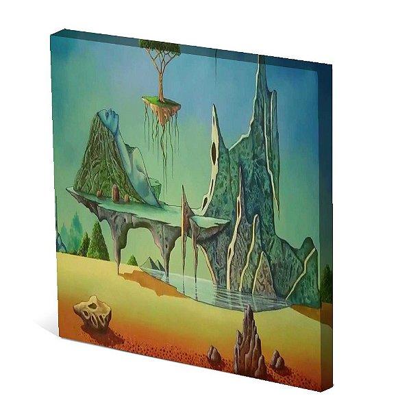 Tela Canvas 30X30 cm Nerderia e Lojaria abstrato arvore colorido